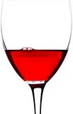 Closeup Glass of red wine royalty free stock photo