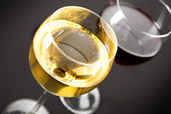 Closeup on glasses of wine Royalty Free Stock Image