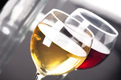 Closeup on glasses of wine Stock Photography