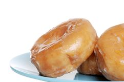 Closeup Of Glazed Donuts Royalty Free Stock Image