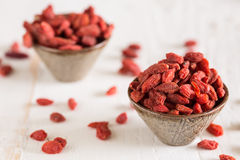 Closeup of goji berries. Goji berries are considered one of the superfoods royalty free stock image