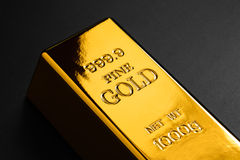 Closeup of gold bullion Stock Images