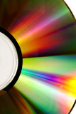 Closeup of a gold CD Stock Photos