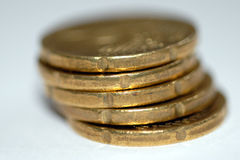 Closeup of Gold Coins-2 Royalty Free Stock Images