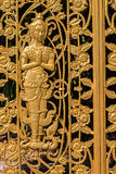 Closeup golden color thai style angle Royalty Free Stock Image
