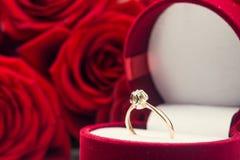 Closeup of golden ring Stock Photos