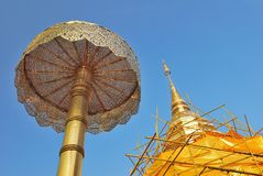 Closeup of golden stupa Royalty Free Stock Photos