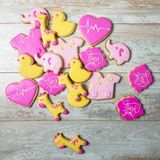 Cute Nurse thank you sugar cookies on a wooden background