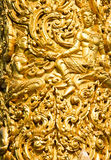 Closeup of golden wax sculpture decoration at Tung Sri Muang park in Ubon Ratchathani province, Thailand Royalty Free Stock Photos