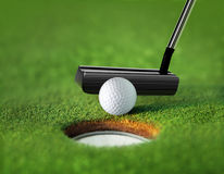 Closeup golf ball and tee Stock Image