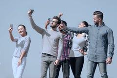 Closeup.good friends doing a selfie. Royalty Free Stock Photo