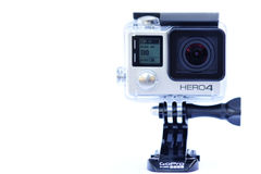 Closeup of Gopro hero4 action camera Royalty Free Stock Photography