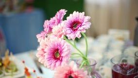 Closeup of a gorgeous spring festive bouquet of gerbera stock video
