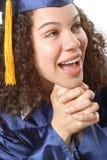 Closeup of grad's face Stock Photo