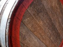 Oak wine barrel close up royalty free stock images