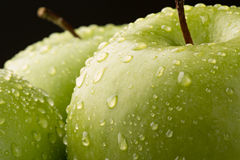 Closeup of Granny Smith Apple Royalty Free Stock Photography
