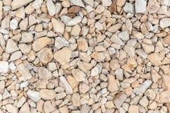 Closeup of gravel stones background Stock Photo