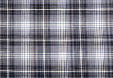 Closeup of a gray checked plaid Royalty Free Stock Image