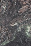 Closeup gray marble with natural pattern texture background. stock image