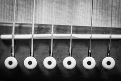 Closeup Grayscale Photo of Acoustic Guitar stock image