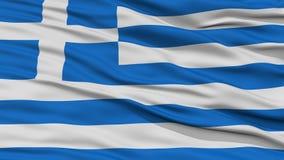 Closeup Greece Flag Royalty Free Stock Photography