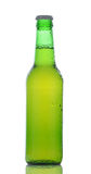 Closeup Green Beer Bottle Royalty Free Stock Image