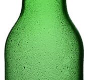 Closeup Green Bottle With Condensation Stock Photography