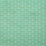 Closeup of green brick wall as background or texture Royalty Free Stock Images