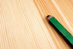 Closeup of green carpenter pencil Stock Photo