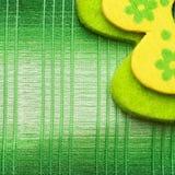 Closeup green fabric texture Royalty Free Stock Photos