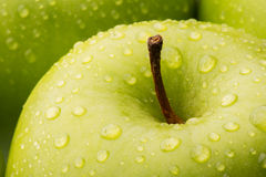Closeup of a green Granny Smith Apple Stock Photography