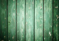 Closeup of green wood planks texture background Royalty Free Stock Photography