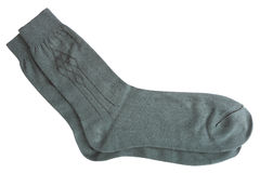 Closeup of grey men's socks Royalty Free Stock Images
