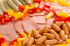 Closeup of grill ingredients Stock Image