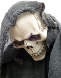 Closeup of the Grim Reaper during Halloween. A scary closeup of the Grim Reaper during Halloween stock photography