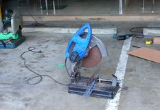 Grinding machine ready for use royalty free stock photo