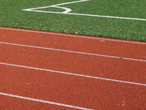 Closeup of ground on sports arena Royalty Free Stock Image