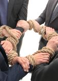 Closeup.group of business people holding hands. The concept of unity Royalty Free Stock Photography