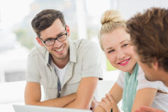 Closeup of a group of casual people Stock Image