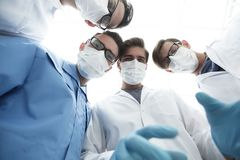 Closeup. a group of doctors in the operating room. The concept of health Royalty Free Stock Images