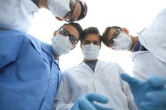 Closeup. a group of doctors in the operating room. The concept of health Royalty Free Stock Photography
