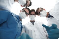 Closeup. a group of doctors in the operating room. The concept of health Royalty Free Stock Photos