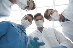 Closeup. a group of doctors in the operating room. The concept of health Stock Photo