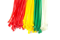 Closeup group Nylon Cable Ties Stock Images