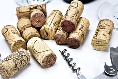 Closeup of a group of wine corks Royalty Free Stock Image
