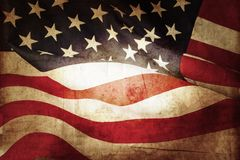 American flag. Closeup of grunge American flag Royalty Free Stock Image