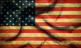 Closeup of grunge American flag vintage Stock Photography