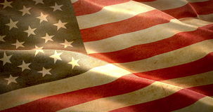 Closeup of grunge American USA waving flag. United states of america stock video