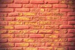 Closeup of grunge red brick wall Stock Photo