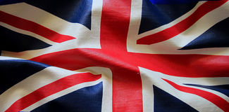 Closeup of grunge Union Jack flag Royalty Free Stock Photos